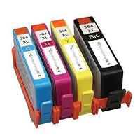 Confezione da 4 cartucce compatibili nero/ciano/magenta/giallo ad alta capacità HP 364XL
