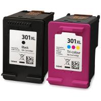 Combo pack cartucce rigenerate HP 301XL - Nero e Colore