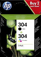Combo pack cartucce originali HP 304 nero/tricromia  (3JB05AE)