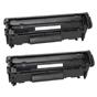 Dual Pack toner compatibile HP 12A (Q2612A) per Laserjet 1018 1022 1020