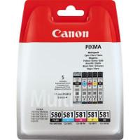 Multipack 5 cartucce Canon PGI-580 + CLI-581