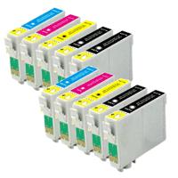 Multipack da 10 cartucce compatibili Epson T1281-1284